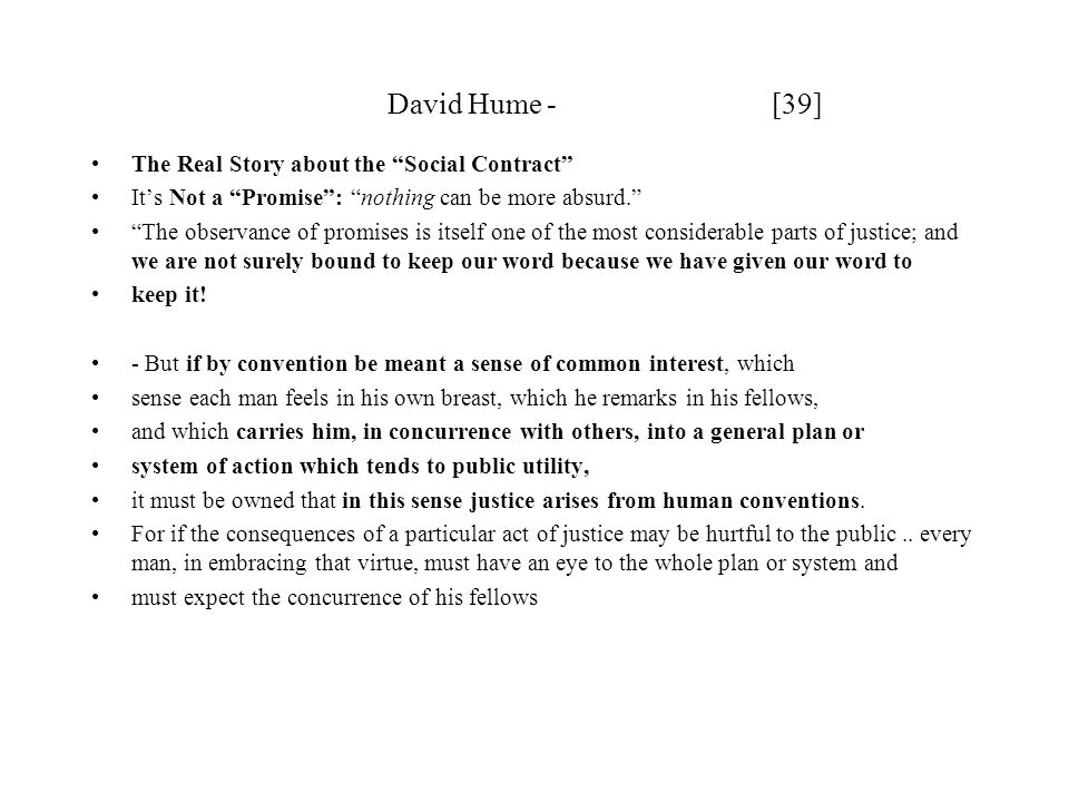 David Hume - [39] The Real Story about the Social Contract